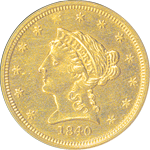 Coronet $2.50 gold quarter eagle