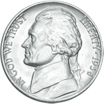 Jefferson 5-cent coin