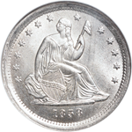 Seated Liberty quarter dollar history
