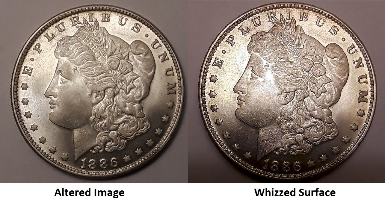 Poor numismatic photography or alteration of photos remains an online bidding risk, as this whizzed 1880-O Morgan dollar, photoshopped and offered as Uncirculated, demonstrates. Once a potential condition rarity, its surfaces were