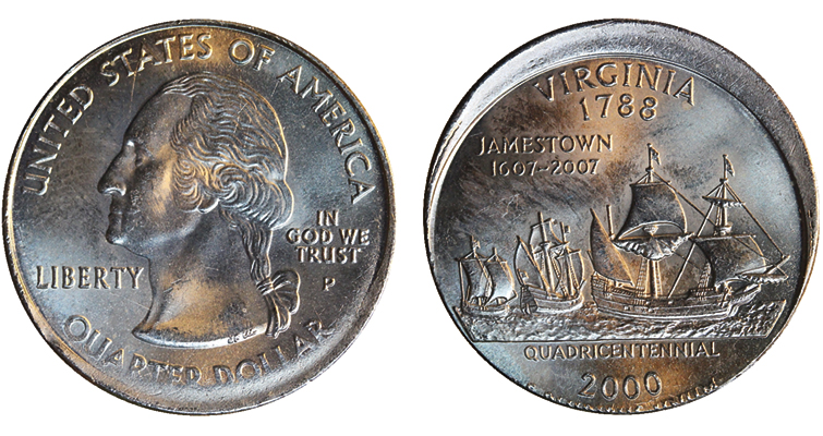 There are now five types of Virginia State quarter errors