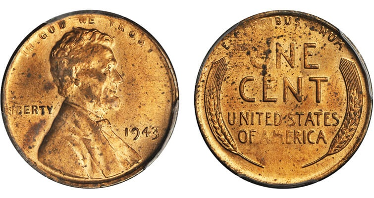 authenticated 1943 Lincoln bronze cent