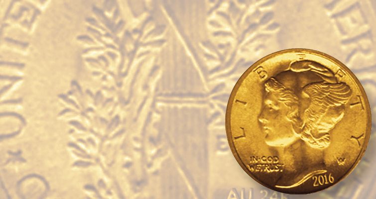 Winged Liberty Head dime (Mercury dime) turns 100