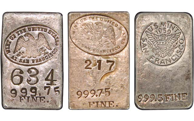 Ingots are an older form of Mint 5-ounce silver bullion pieces: Guest Commentary