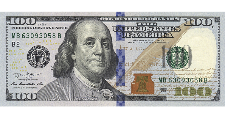 Series 2013 $100 notes out ahead of schedule | Coin World 100 Dollar Bill 2013 Back