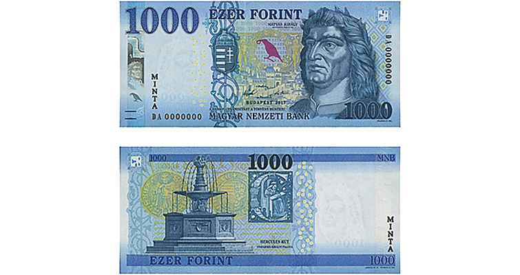 National Bank of Hungary 1,000-forint note