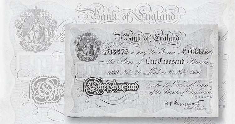 1,000 note among auction highlights