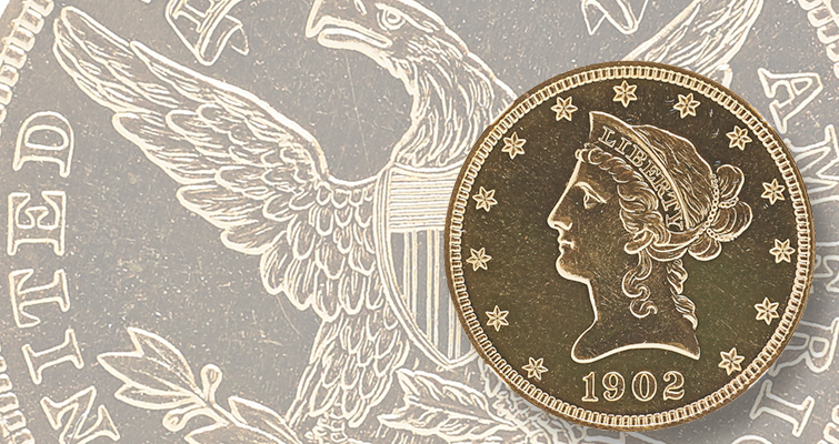 Proof 1902 Coronet gold $10 eagle sets two auction records