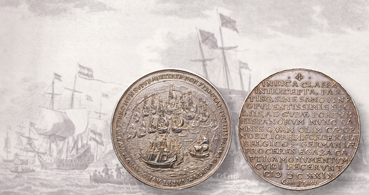 1628 Dutch silver medal made from war treasure leads auction