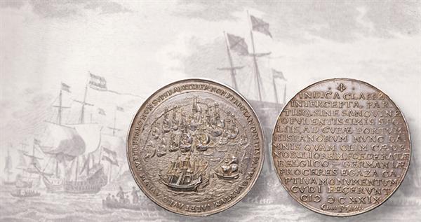 1628-silver-dutch-medal-matanzas-bay-and-print
