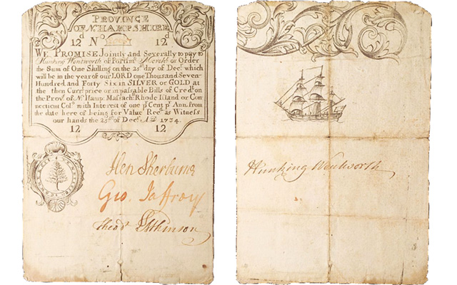 "Christmas was just another day in 1734. Merchants signed this New Hampshire bill on the ""25th of Decr A.D. 1734."""