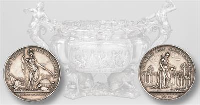 1736 Jernegan's lottery silver medal