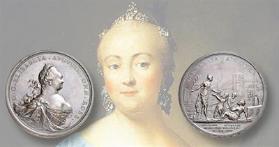 1741 Russian bronze medal