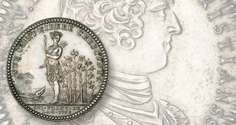 1751-french-jeton-indian-princess-lead