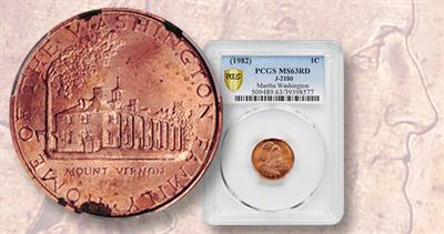 1759 pattern coin on copper-coated zinc planchet