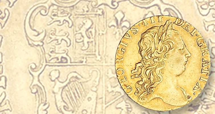 Gold guineas served in North America's early monetary mix