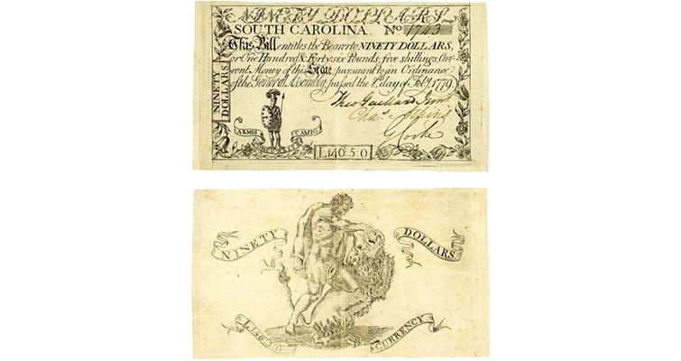 1779 South Carolina note
