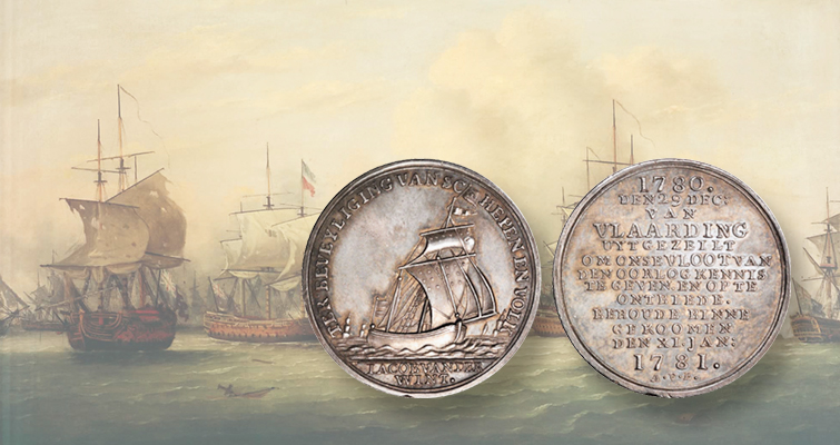 1781 silver Fishing Fleet Medal honors 'Dutch Paul Revere'