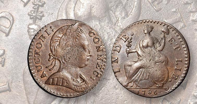 1786 Connecticut copper