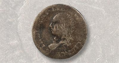 1792 Flowing Hair half disme