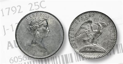 1792 pattern for quarter dollar