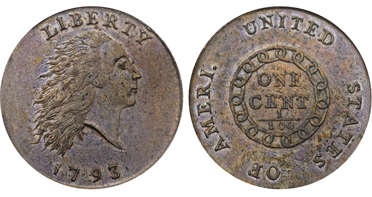 This high-grade Ameri. cent sold for $440,625 in 2014.