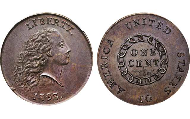 1793 Chain cent once part of 'finest U.S. coin collection of all time' on the block at Heritage FUN auction