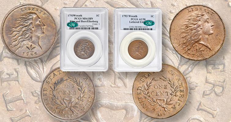 1793 wreath cent