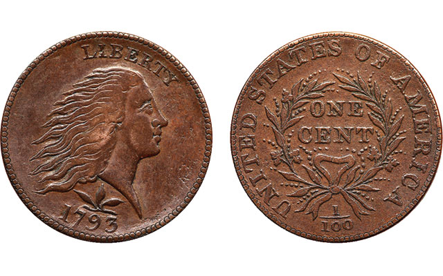 'Smith Counterfeit' 1793 Flowing Hair, Wreath cent a curious oddity