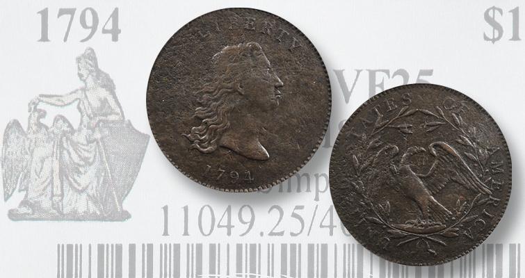 1794 copper dollar
