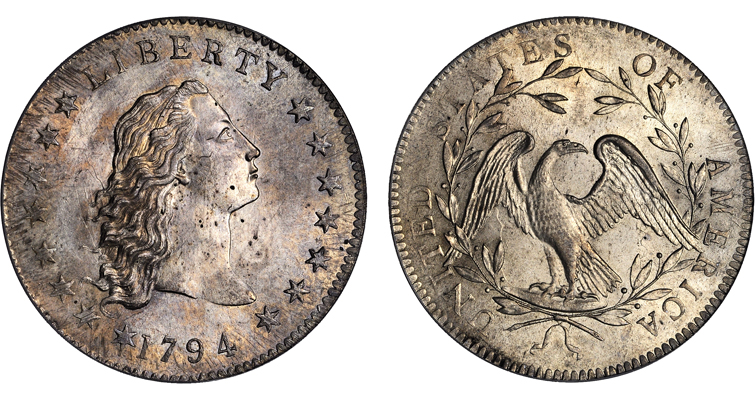Lord St. Oswald 1794 Flowing Hair silver dollar