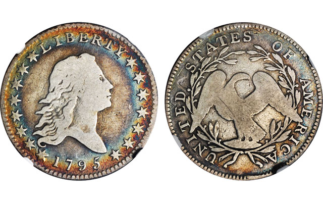 Unusually toned half dollar sells for just over $3,000 at Americana Auction