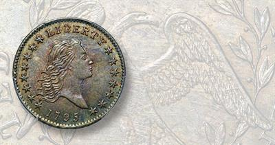 1795 Flowing Hair half dollar, Two Leaves