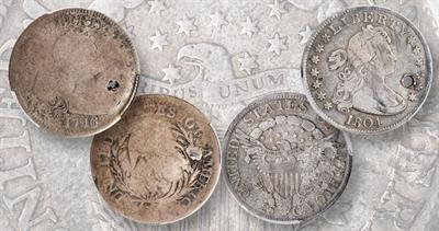 1796 and 1804 quarter dollars