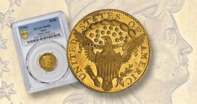 1796 gold $2.50 quarter eagle