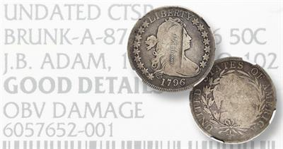 1796 Draped Bust, 16 Obverse Stars half dollar