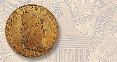 1796 Capped Bust, With Stars quarter eagle