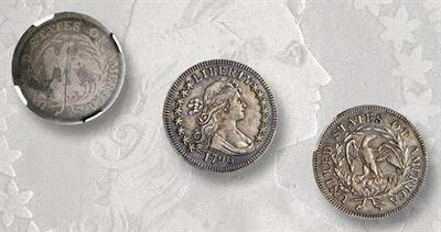 1796 Draped Bust Small Eagle quarter dollars