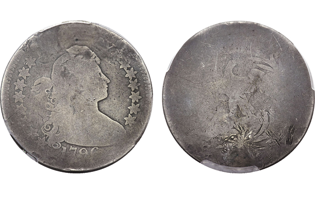'Plugged, whizzed and damaged' 1796 Draped Bust quarter an accessible key issue coin: Market Analysis