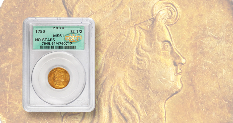 1796 Capped Bust, No Stars quarter eagle is precious: Market Analysis
