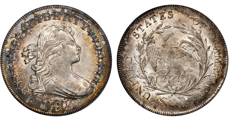 MS-64 1797 Draped Bust silver dollar