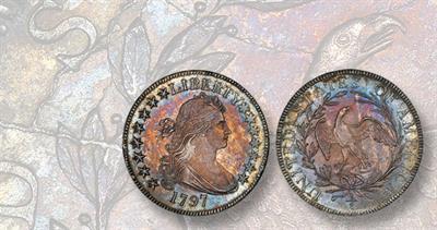 1797 Draped Bust Small Eagle half dollar