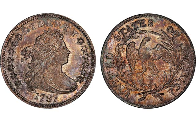 1797 Draped Bust, 13 Stars Dime a rare find at the Pogue auction: Market Analysis