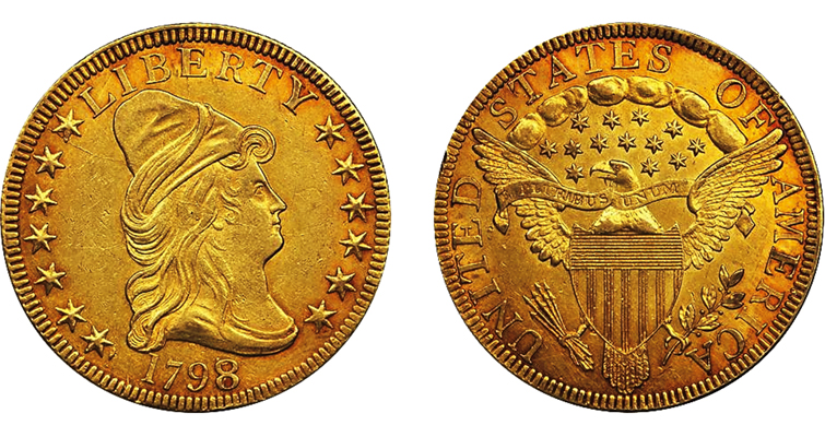 1798/7 Capped Bust Right gold $10 eagle