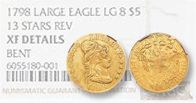 1798 Capped Bust half eagle bent
