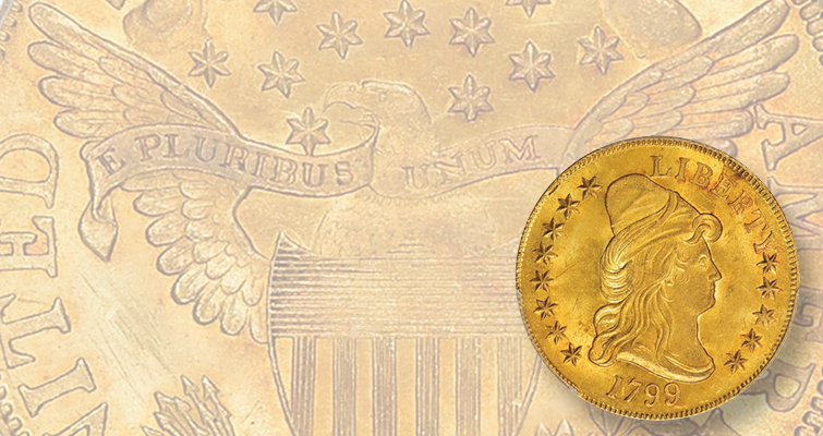 1799 Capped Bust eagle adds to high-end U.S. gold: Market Analysis