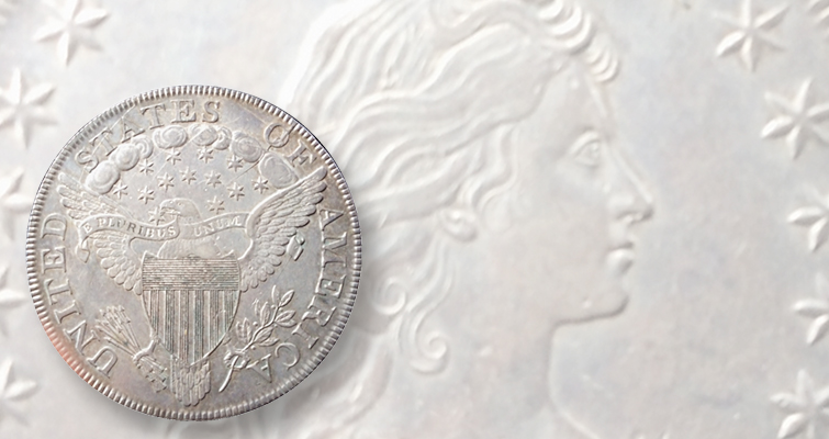 Decades old type collection includes 1799 Bust dollar with shattered reverse
