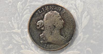1802/0 Draped Bust half cent