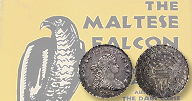 A good mystery always satisfies, whether it be between the covers of a mystery novel or behind the origins of a rare coin. Dashiell Hammett's classic novel, The Maltese Falcon, made into an equally classic movie, is a high point in the genre; the Class II 1804 Draped Bust dollar, like this former Garrett specimen, is shrouded in mystery itself and a high point in anyone's collection.