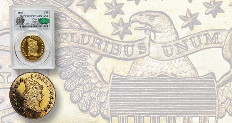 1804 Draped Bust gold $10 eagle
